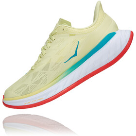 Hoka One One Carbon X 2 Shoes Women, luminary green/hot coral